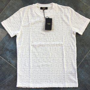 Fendi Casual T-shirt Men's Short Slevee Cotton
